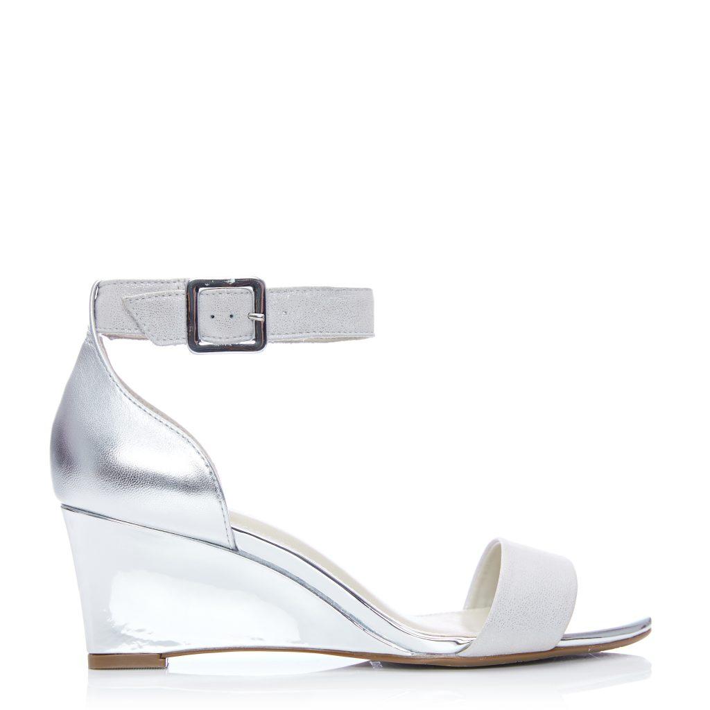 Parcia Silver Metallic Leather