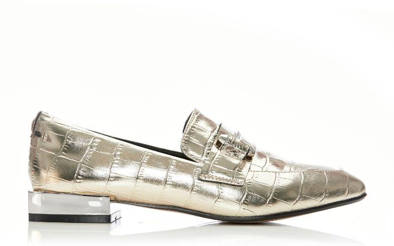 Francois Gold Croc Shoes