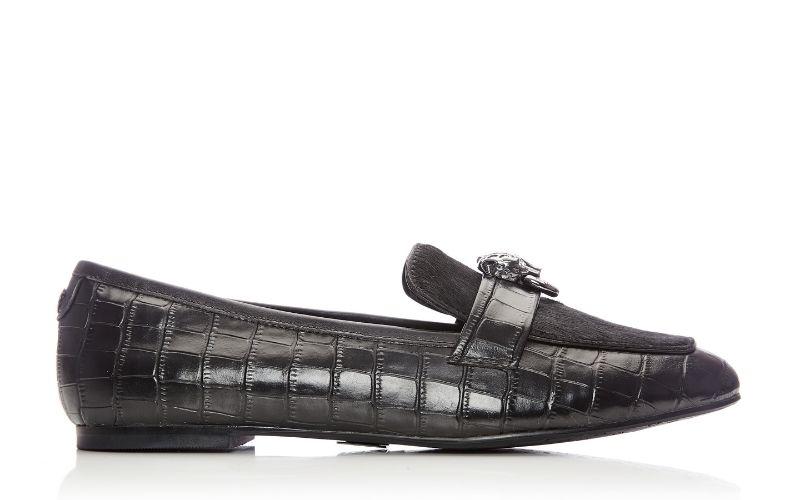 Eleni Black Croc Shoes