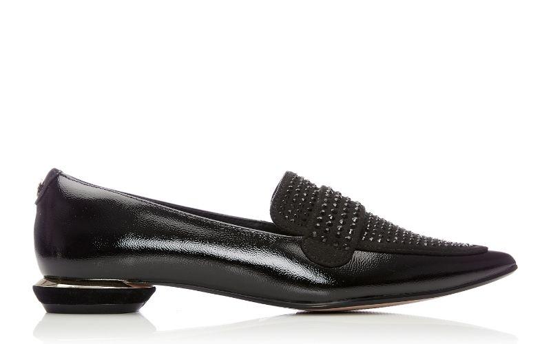 Estabenna Black Patent Leather Shoes