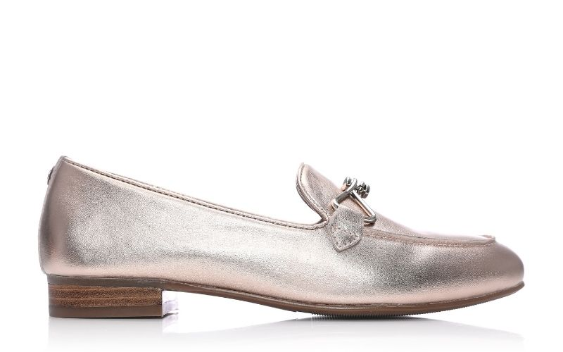 Ferna Rose Gold Leather Shoes