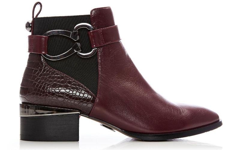 Tyanna Burgundy Leather