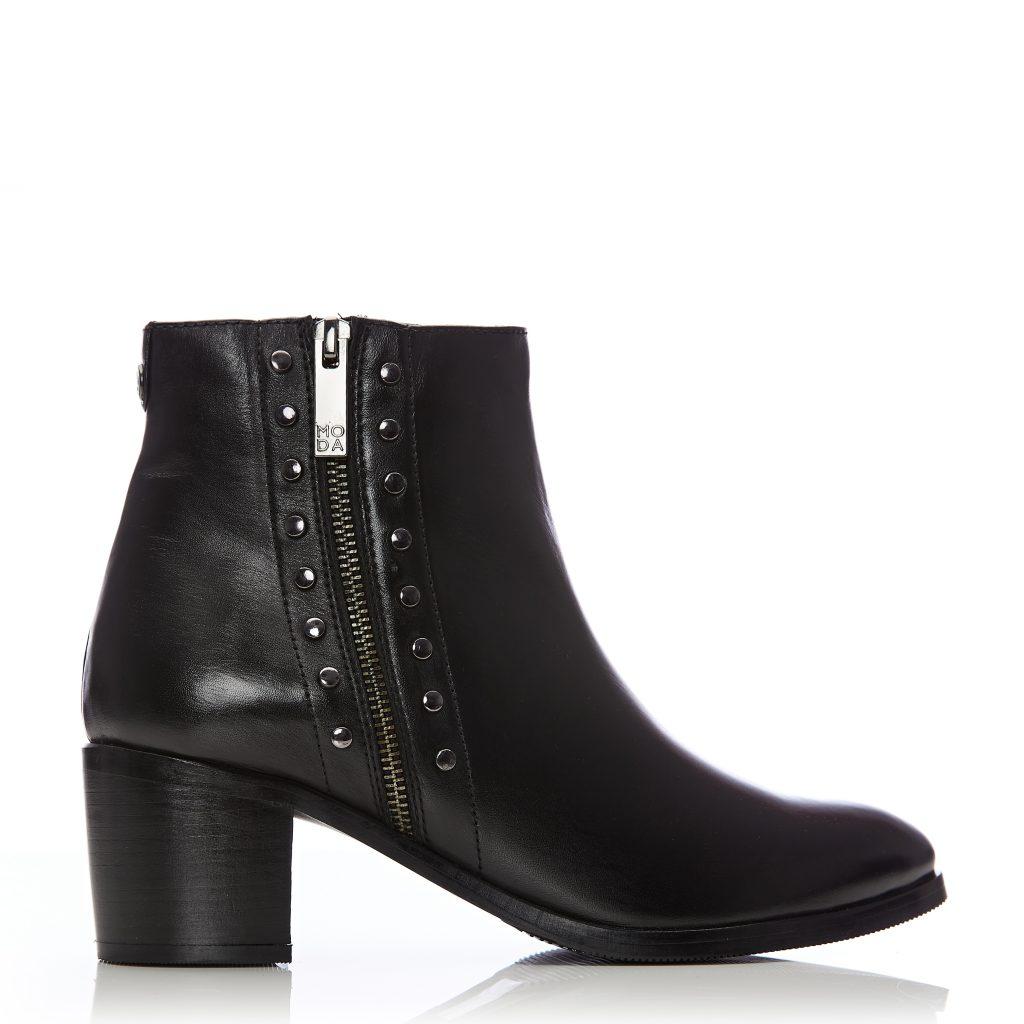 Beula Black Leather
