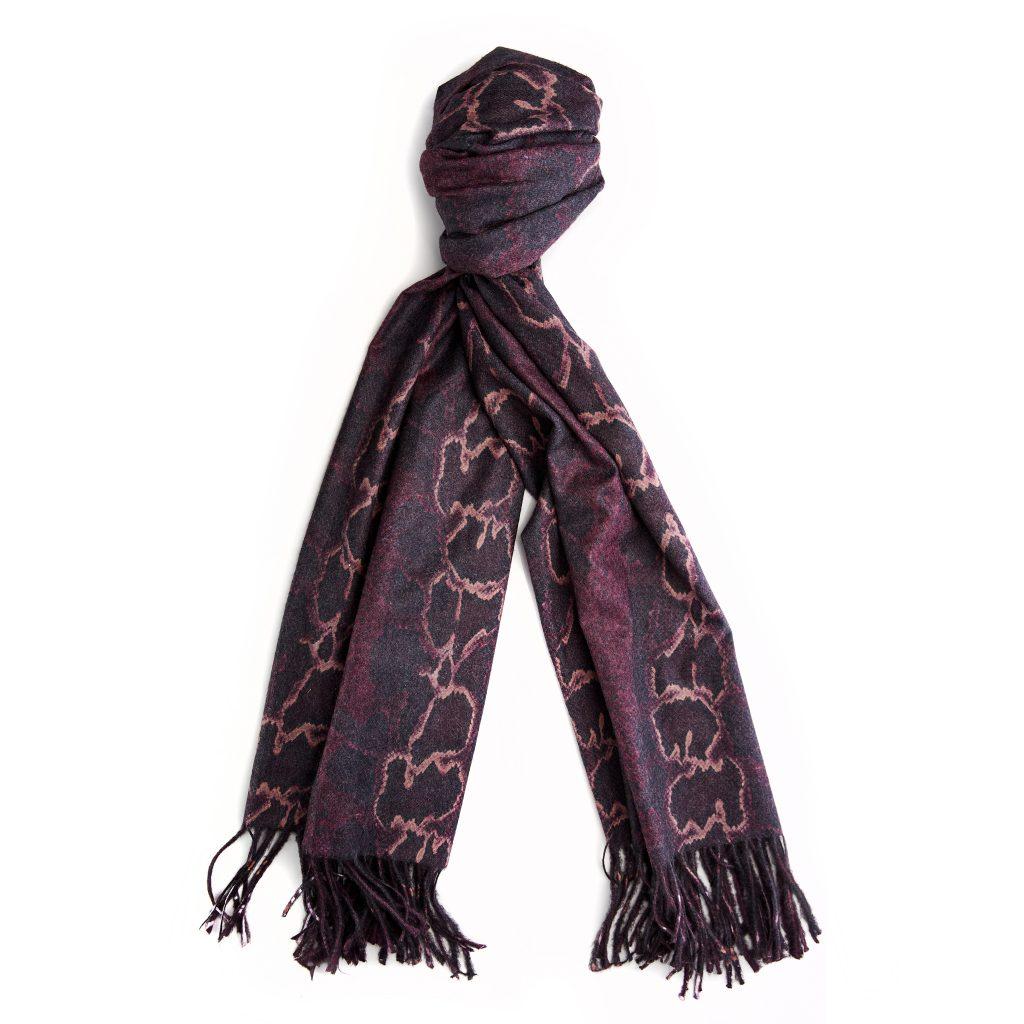 Elonyscarf Burgundy - Snake Fabric
