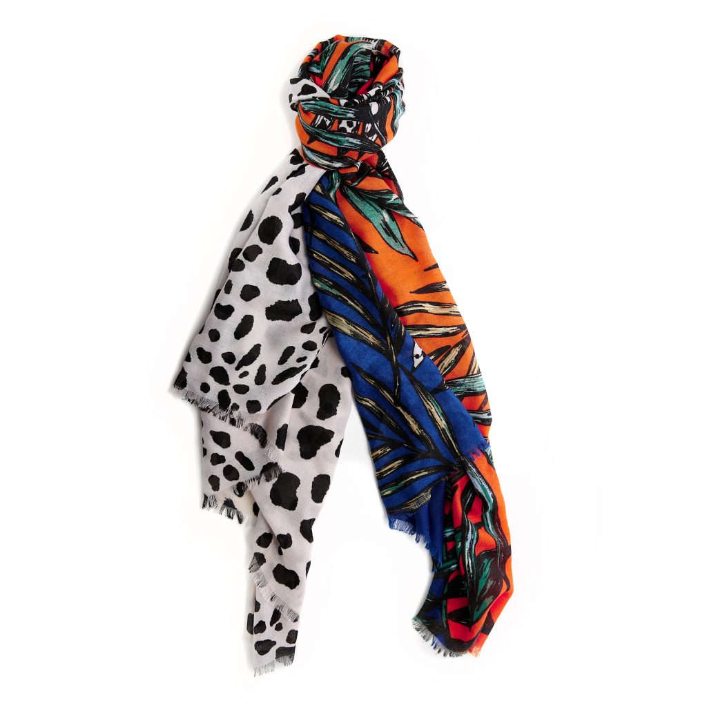 Ettiescarf Multi Print Fabric