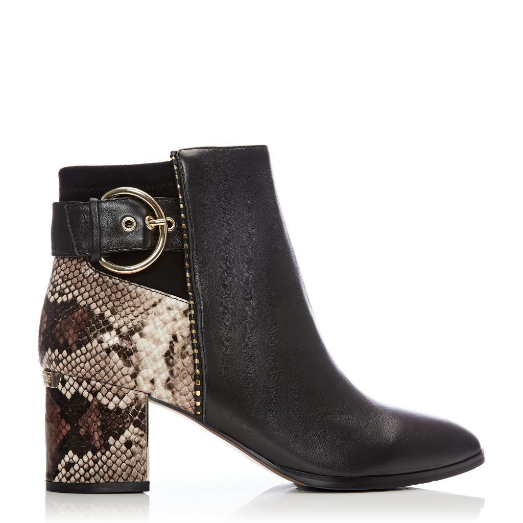 Marlee Black Leather Boots