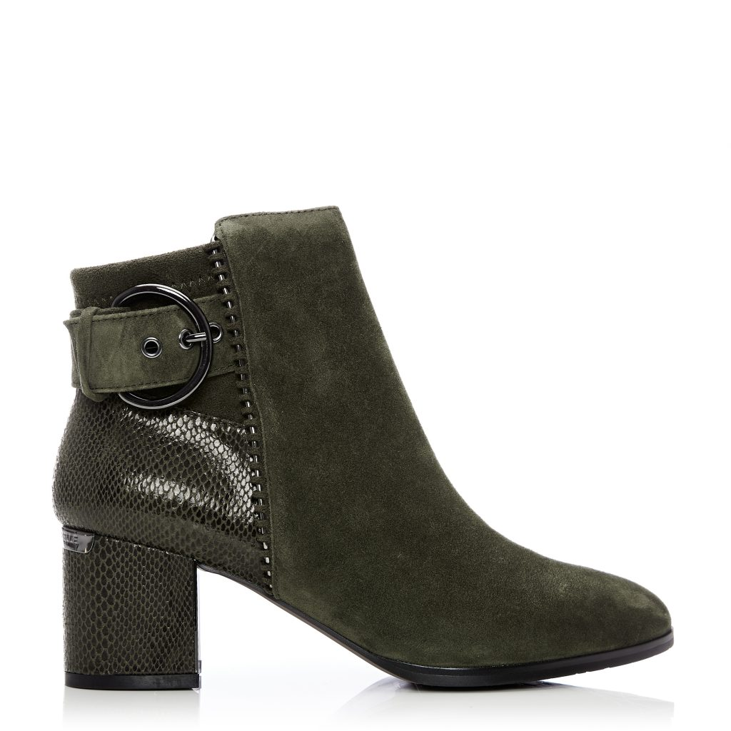 Marlee khaki suede boots