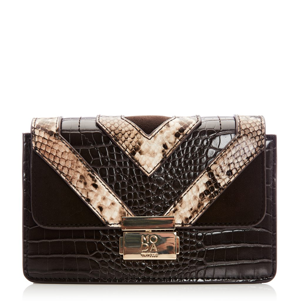 Rixybag Brown Snake Print
