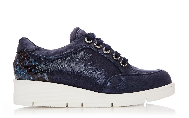 Birrin Navy Leather Shoes