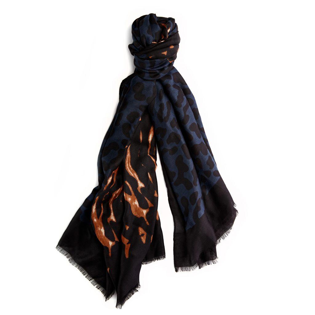 Zazzyscarf Navy Fabric