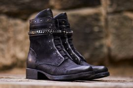 Beautiful Black Leather Ankle Boots