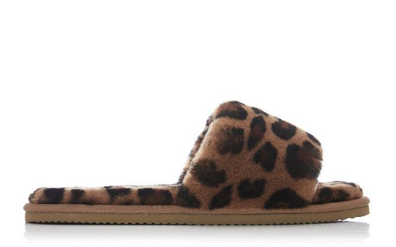 Softie Leopard Sheepskin Slippers