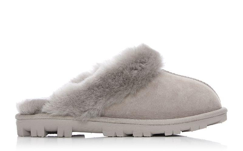 Cosie Light Grey Sheepskin Slippers