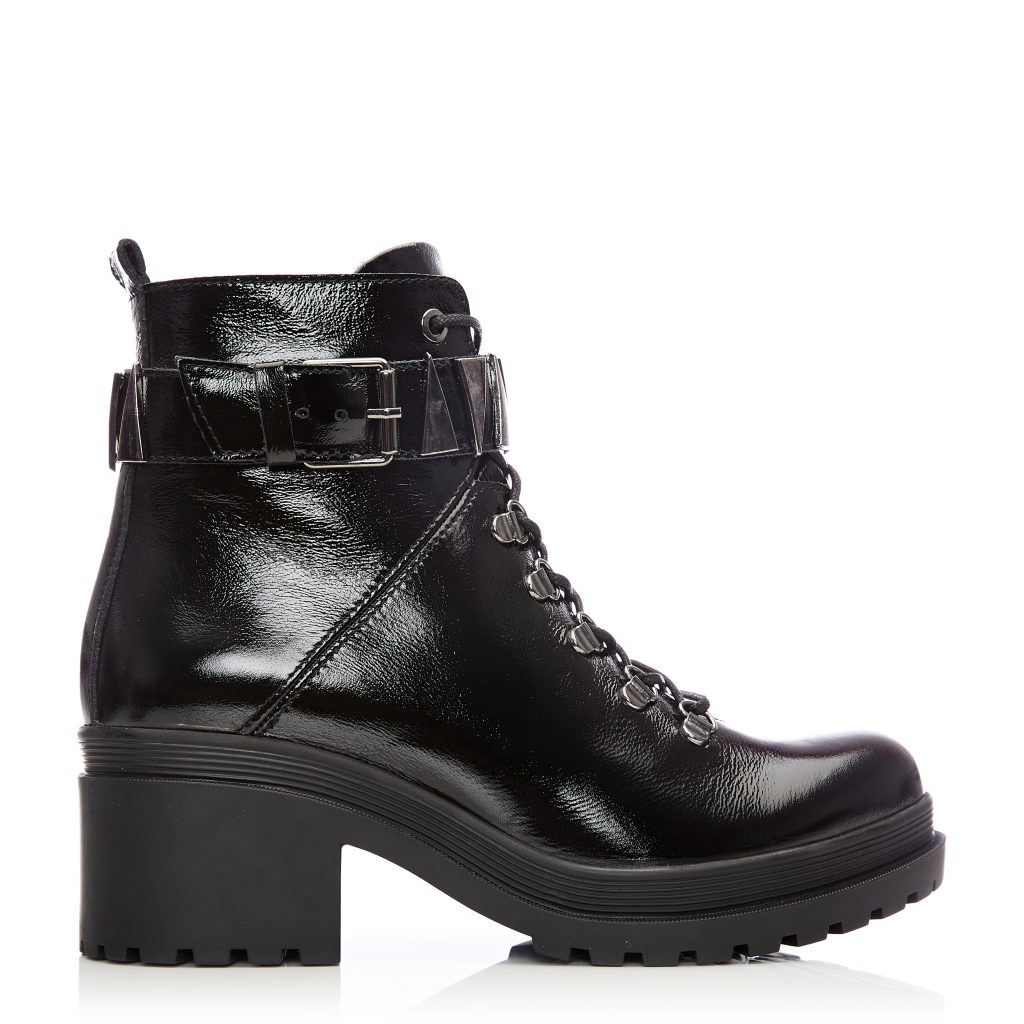 Allisa Black Patent Leather Boots