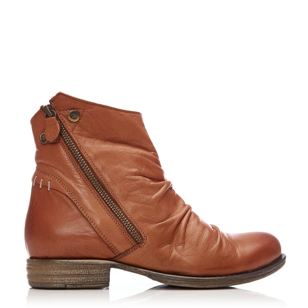 Annika Tan Leather Boots