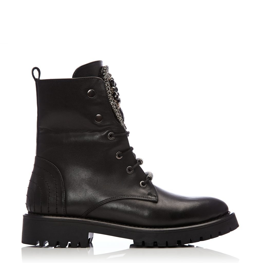 Chantenay Black Leather Boots
