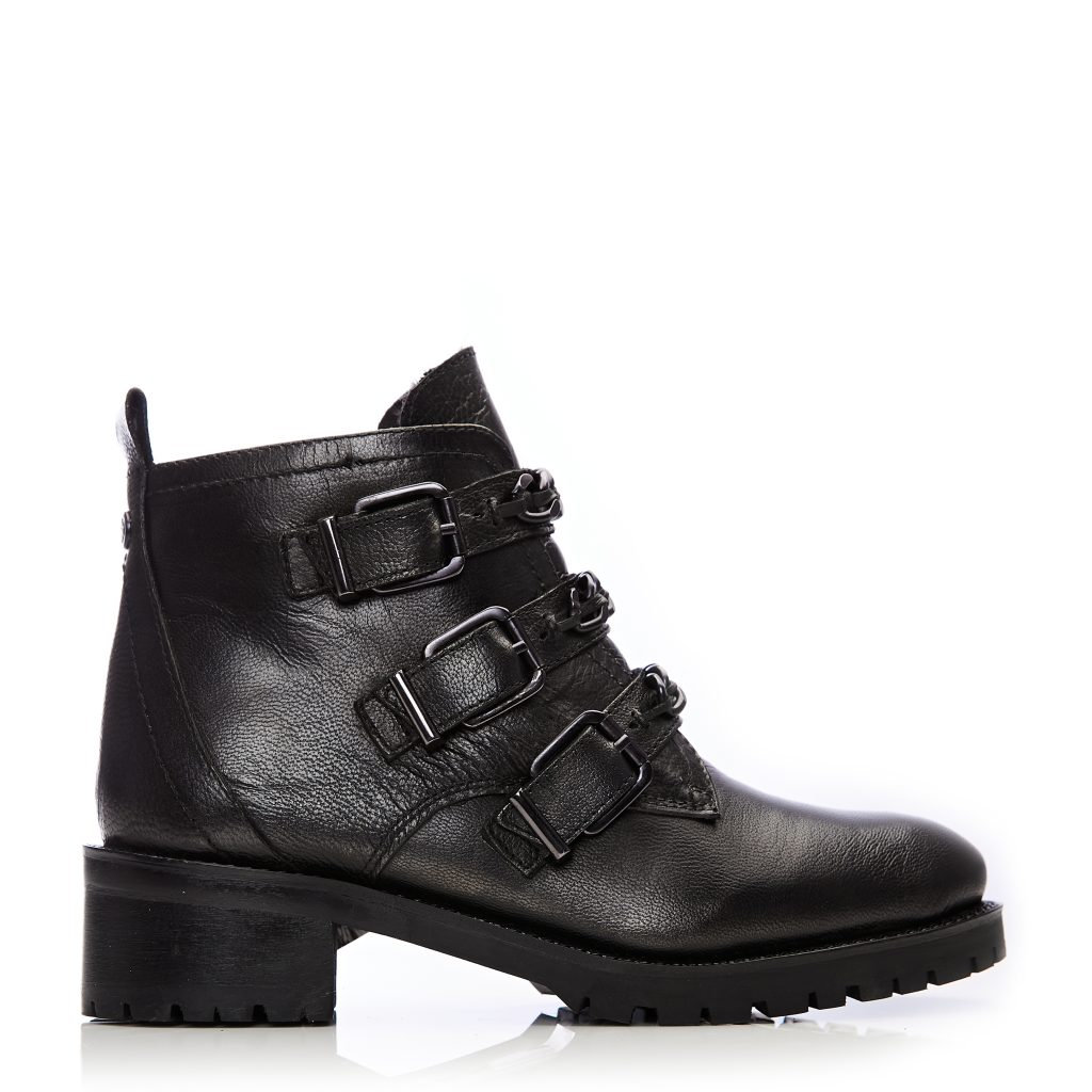 Coleene Pewter Leather Boots