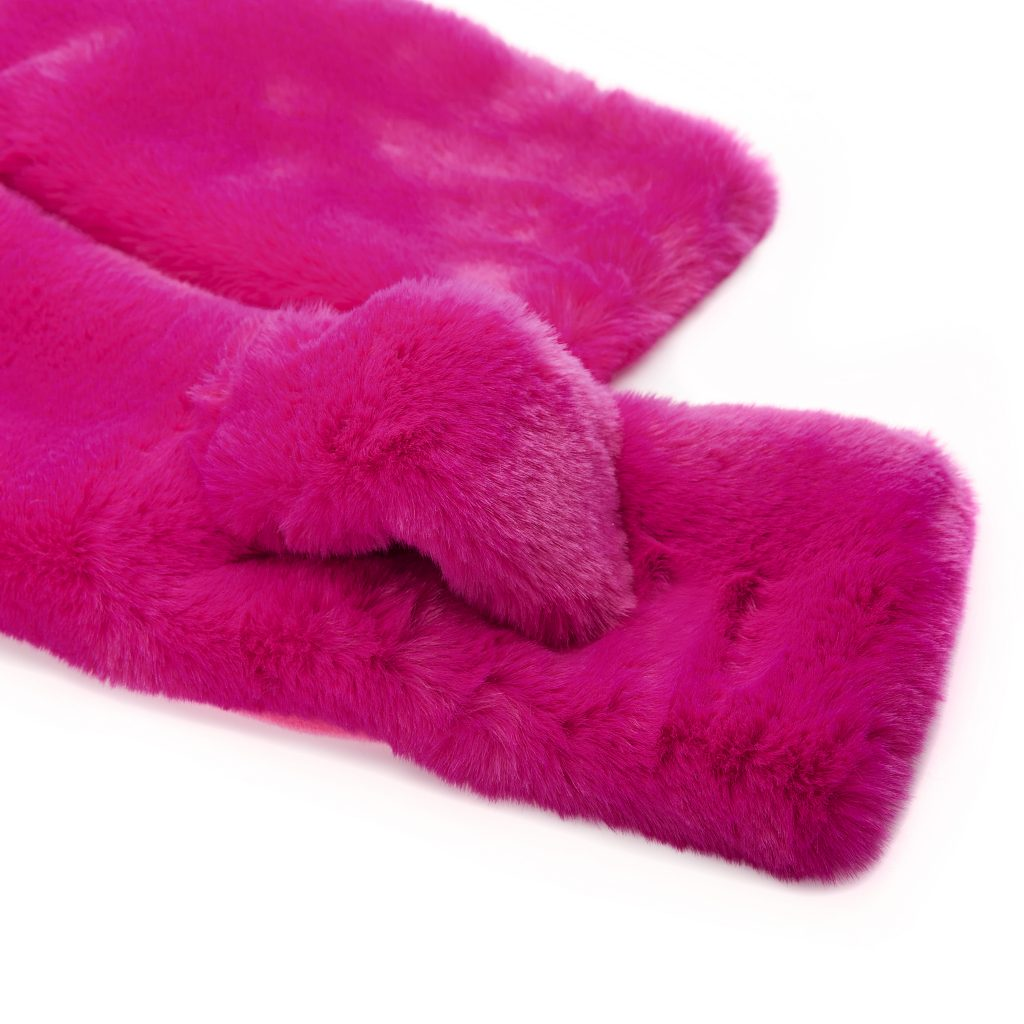Florrascarf Fuschia Faux Fur