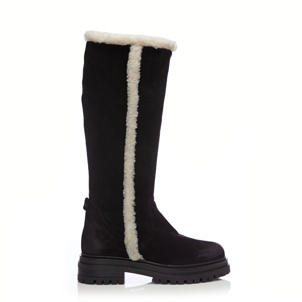 Iriana Black Suede Boots