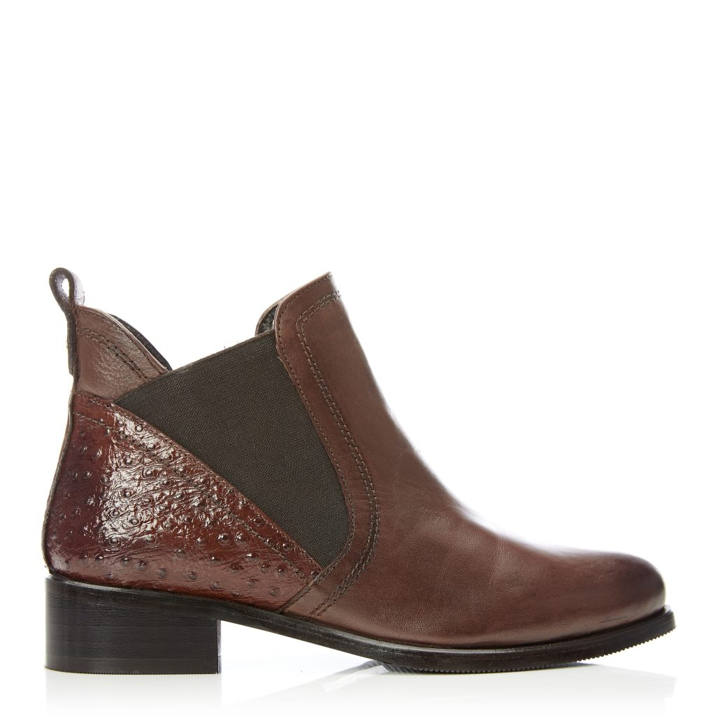 Key Tan Leather Boots