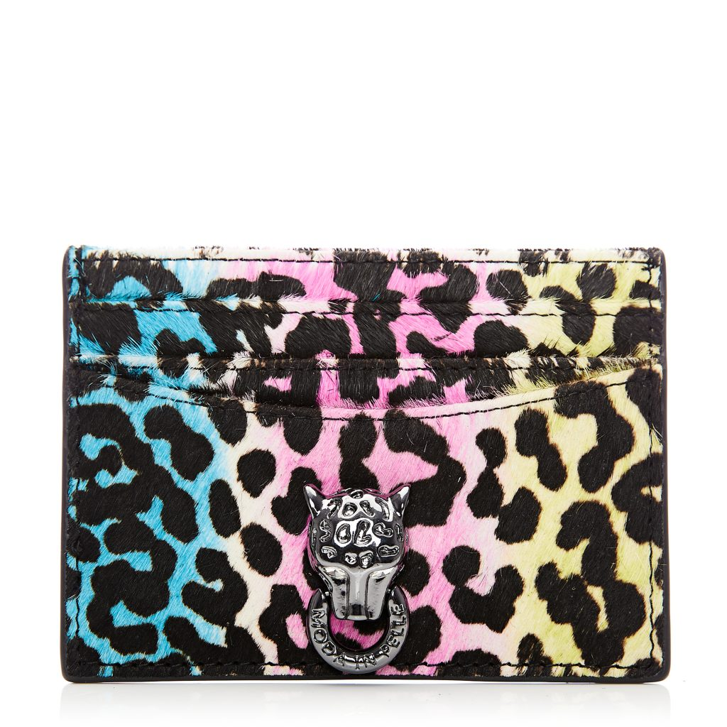 Kirawallet Rainbow Leopard Calf Hair Wallet
