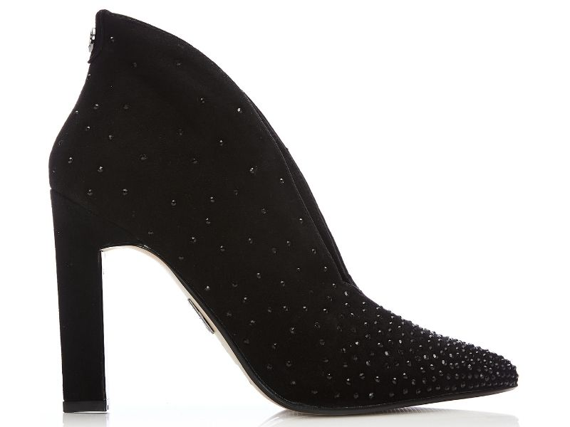 Weldi Jet Black Suede