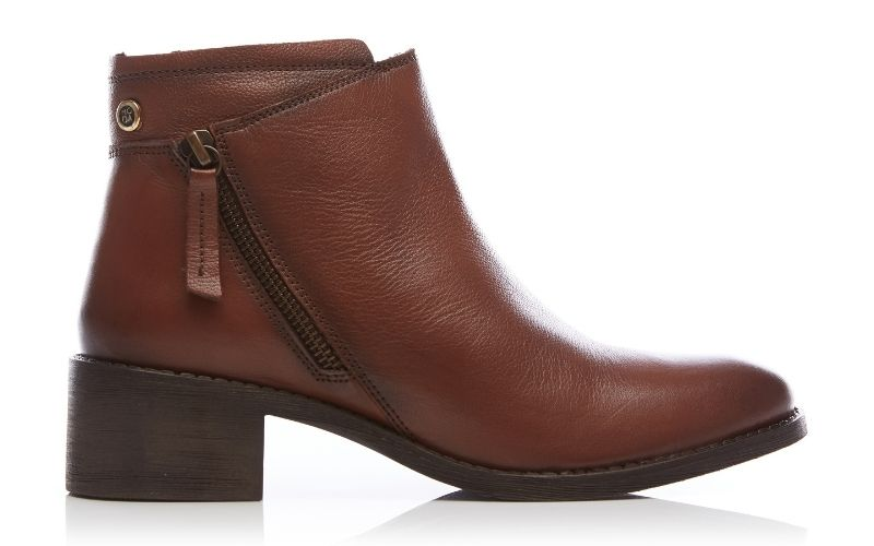 Ceceria Tan Leather Boots