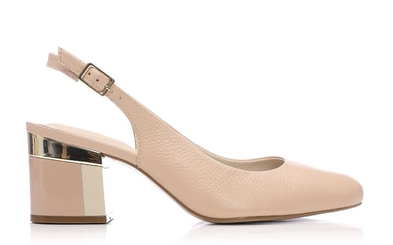 Daina Nude Leather Heels