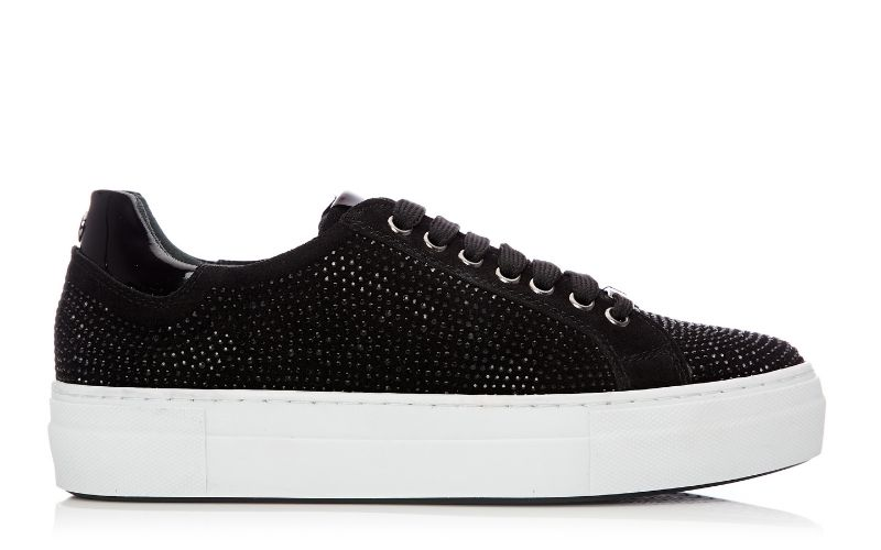Azzina Black Suede Trainers