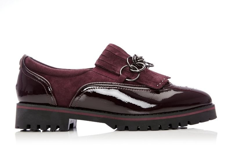 Ferelia Burgundy Patent Leather Shoes