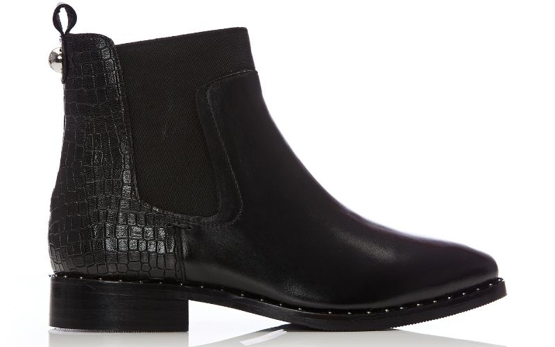Leilana Black Leather Boots