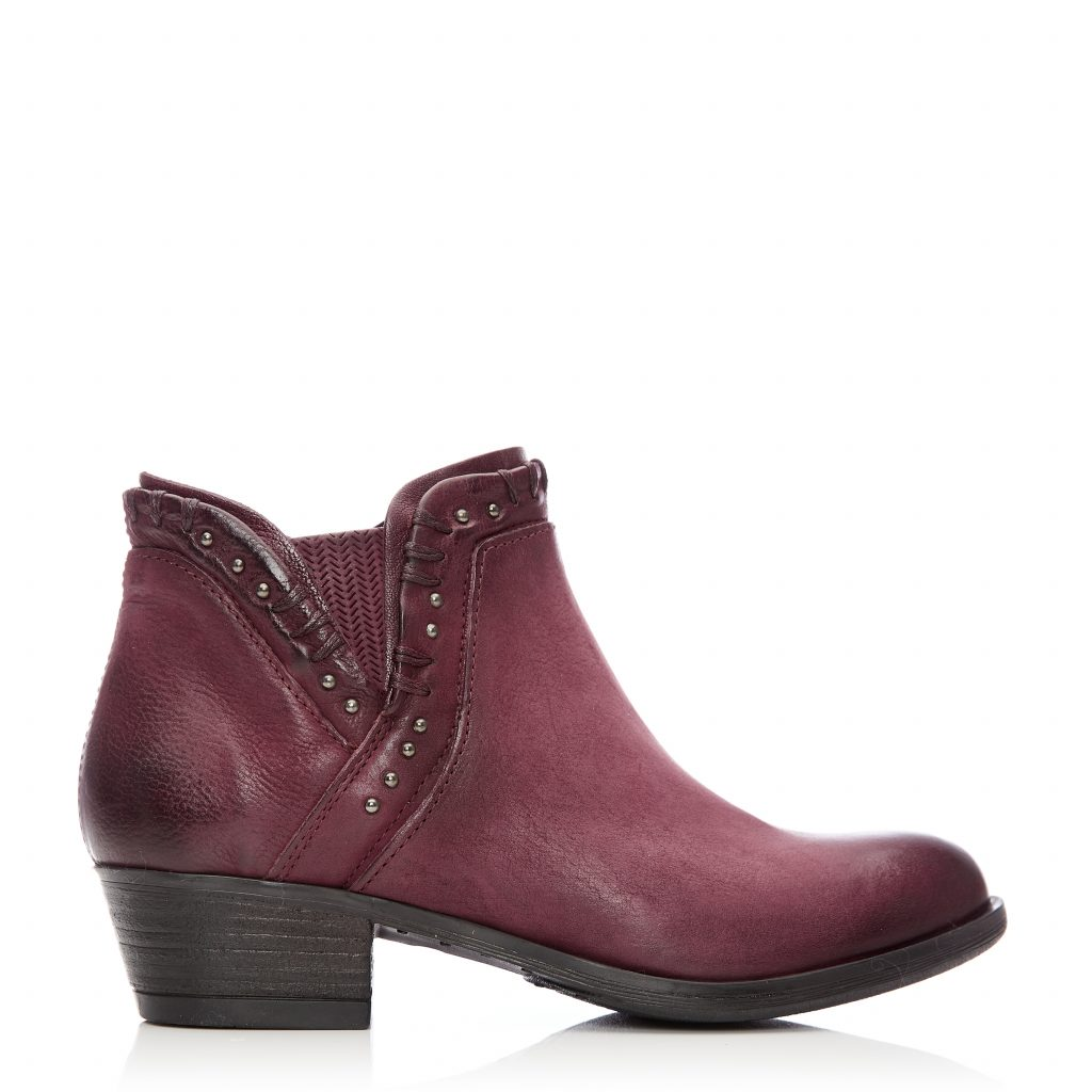 Beretia Burgundy Leather Boots
