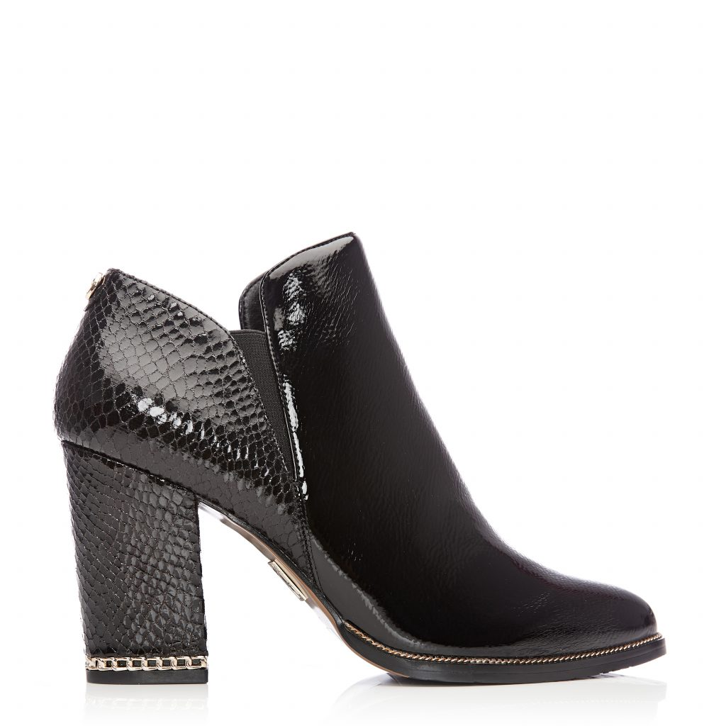 Kailey Black Patent Pu Boots