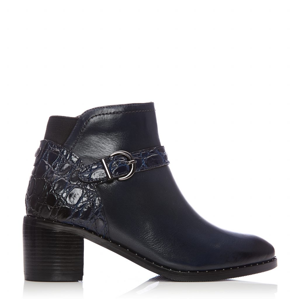 Leelo Navy Leather Boots