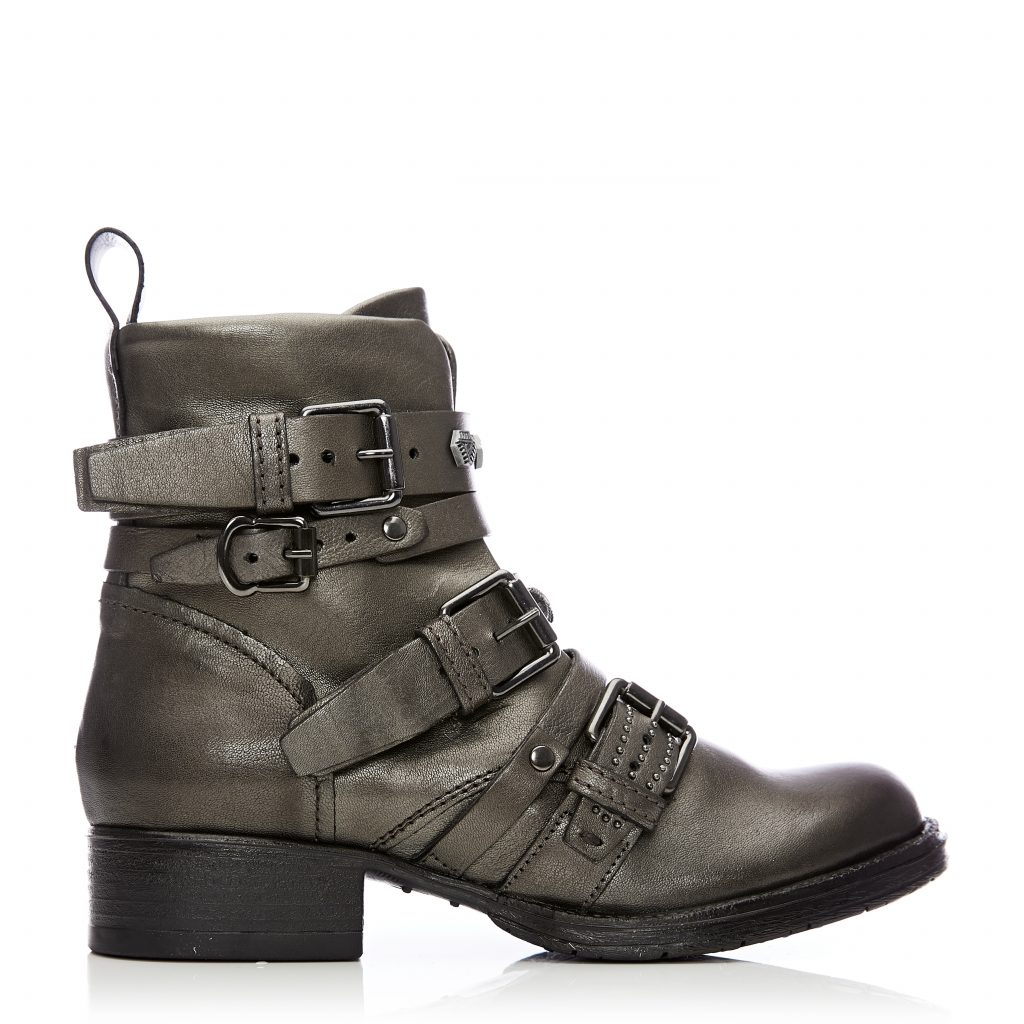 Bilanno Pewter Leather Boots