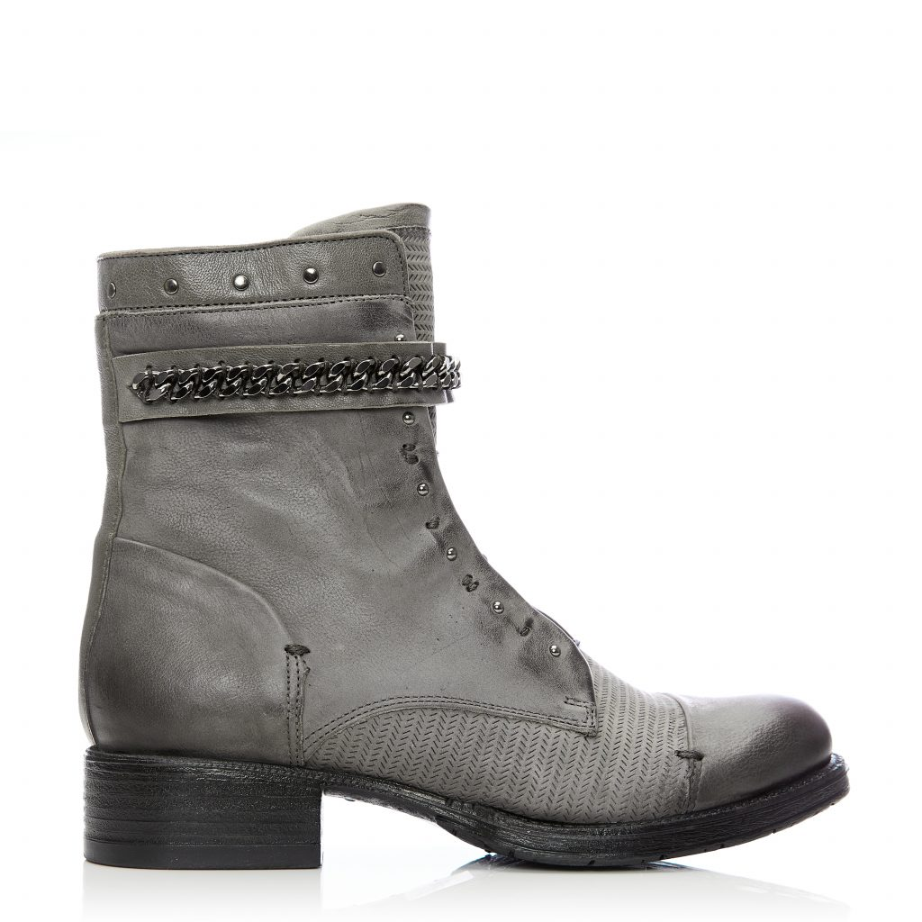 Bliss Grey Leather Boots