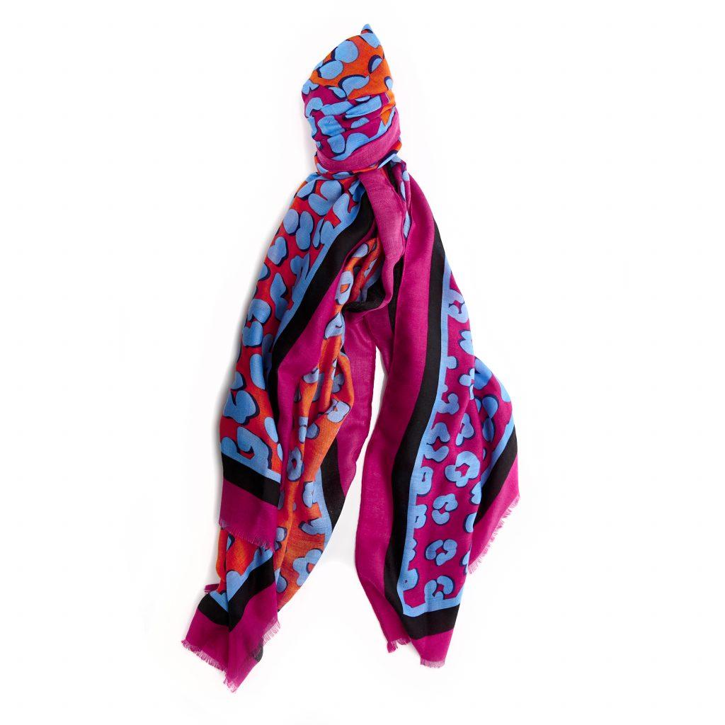 Carliahscarf Multi Leopard Fabric