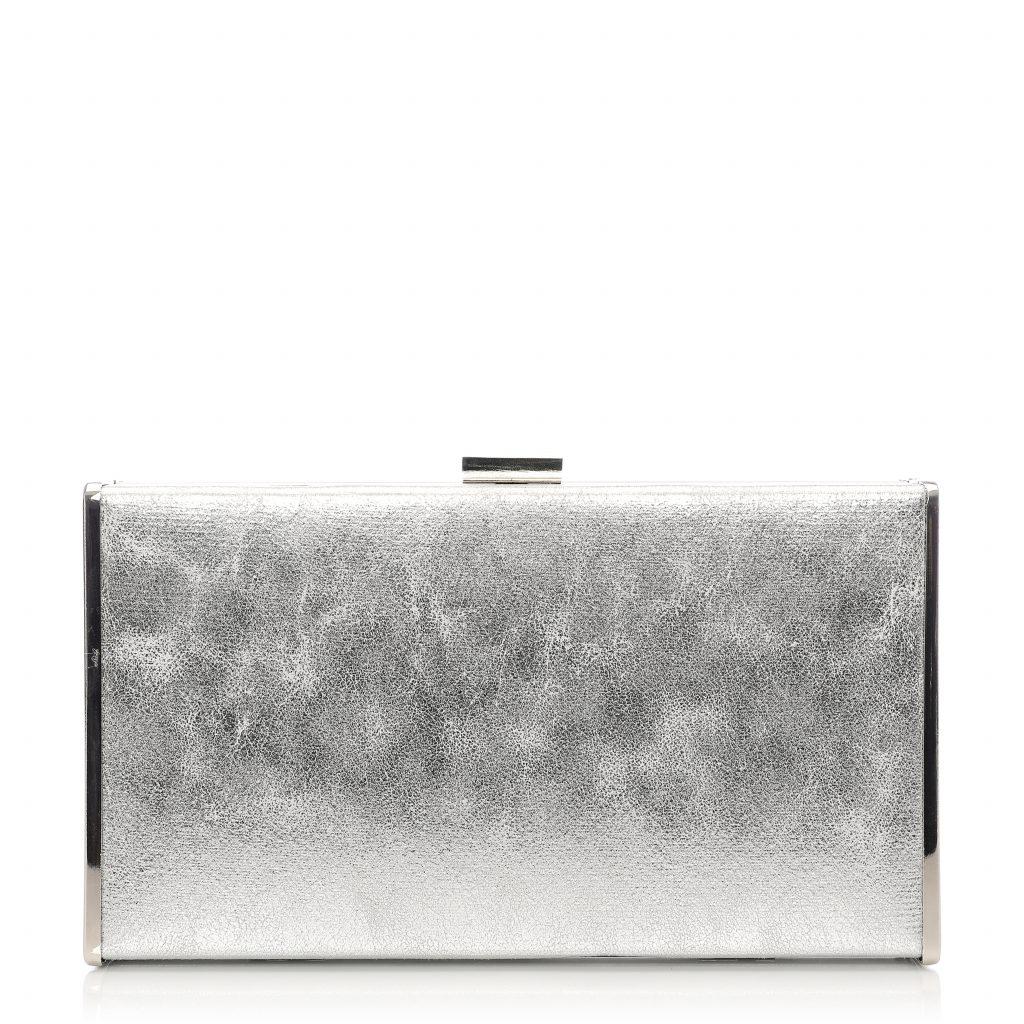 Classoclutch Silver Fabric
