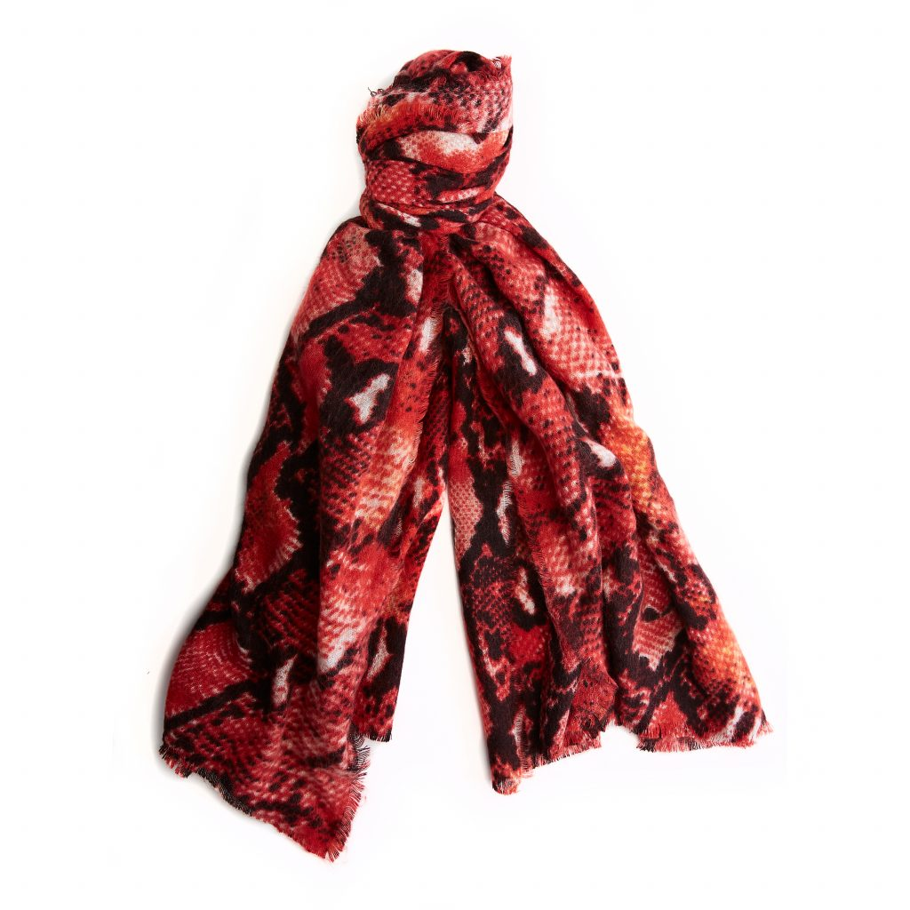 Cobrascarf Red Fabric