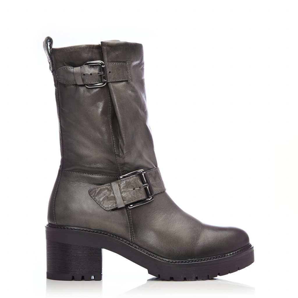 Corelsia Grey Leather Boots