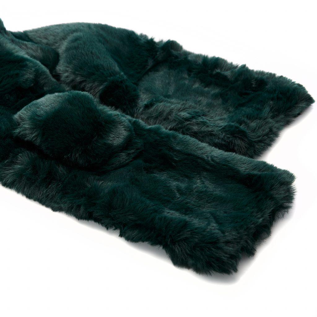 Florrascarf Green Faux Fur