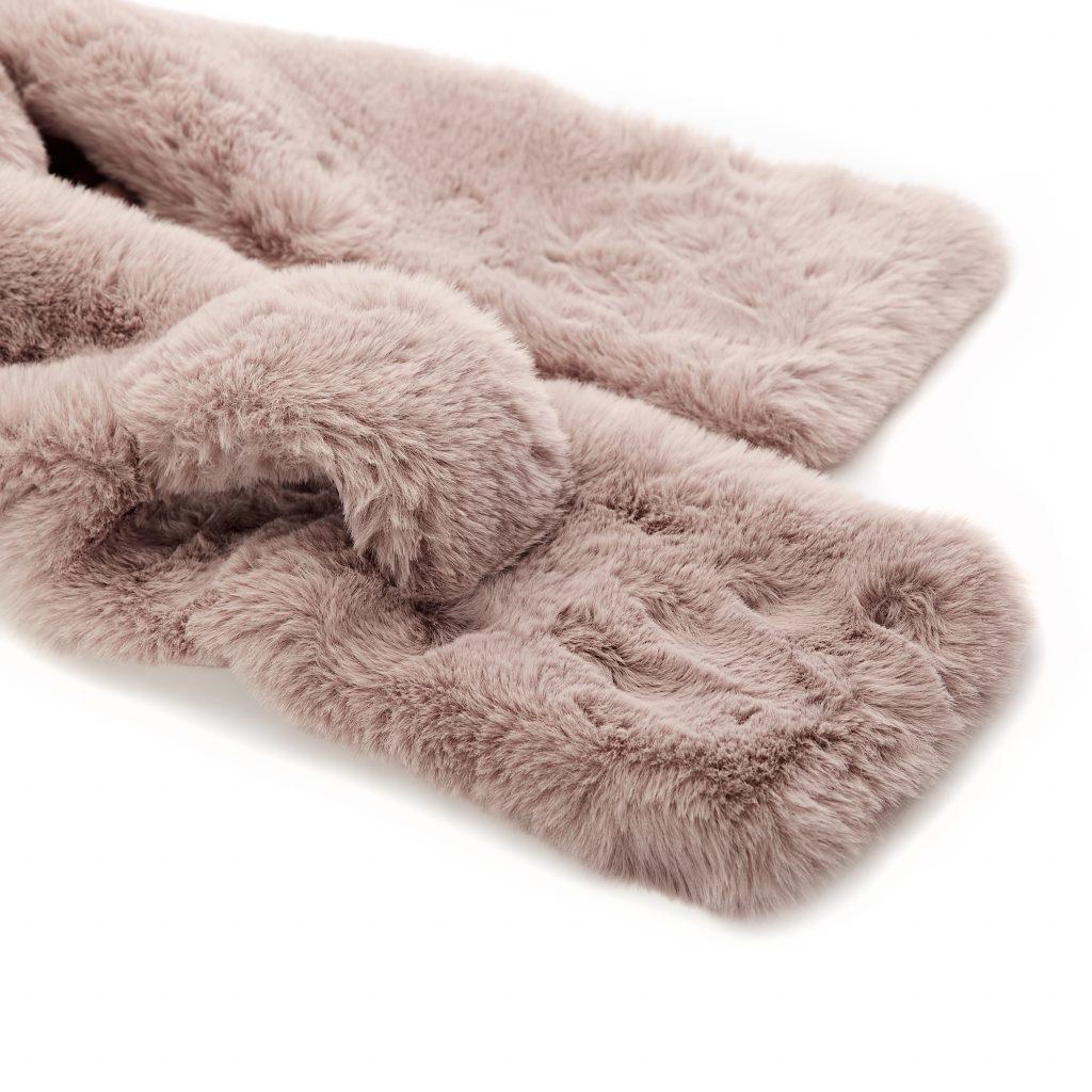Florrascarf Stone Faux Fur