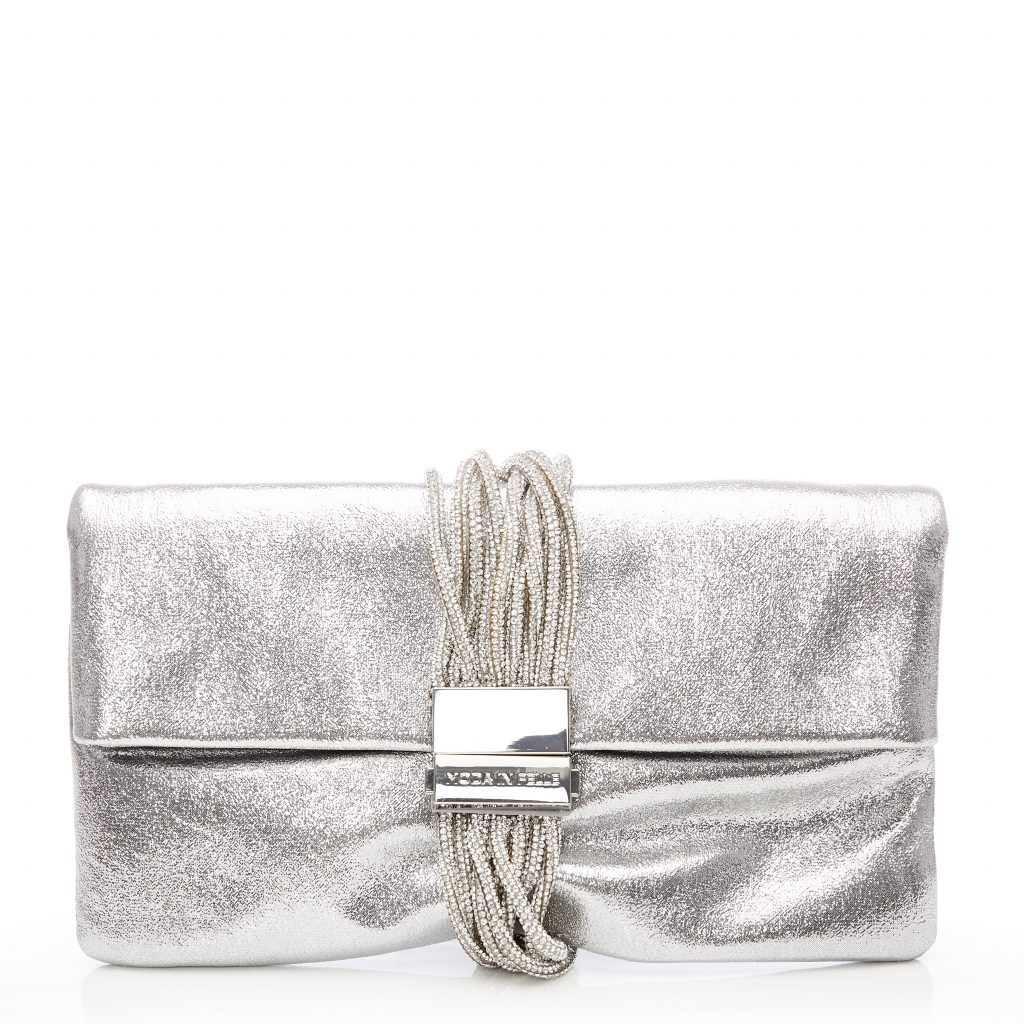 Glamourclutch Silver Metallic Leather