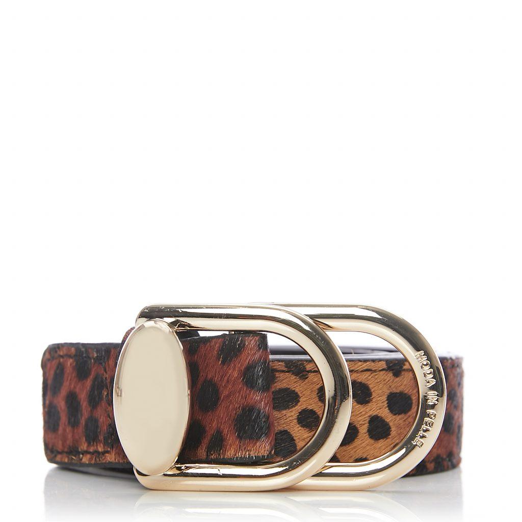 Kobrebelt Mini Leopard Calf Hair