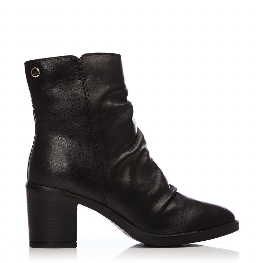 Loula Black Leather Boots