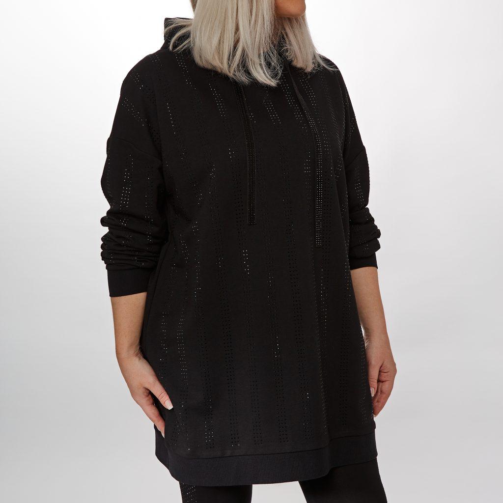 Sabrina Top Jet Black Textile