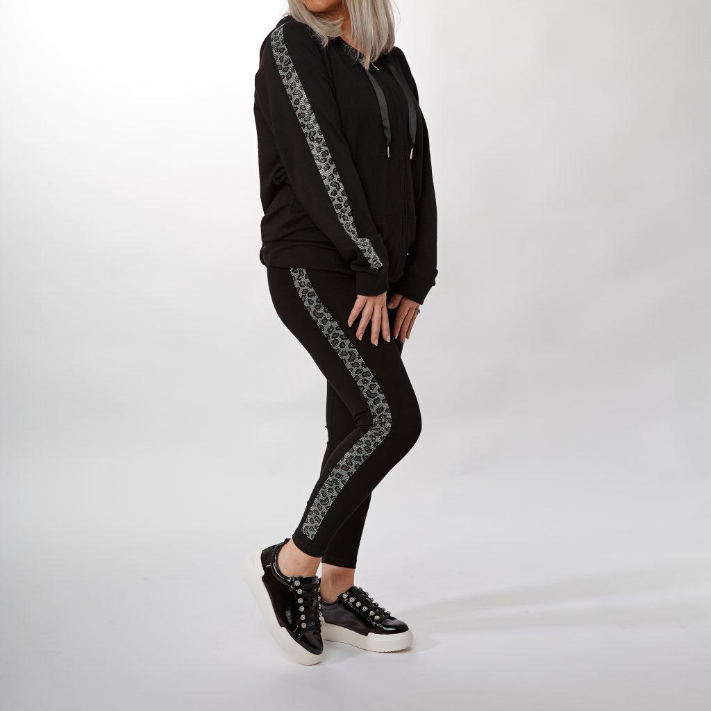 Tina Jacket Black Textile and Tina Legging Black Textile