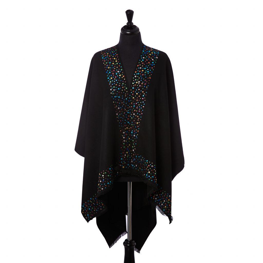 Victoria Poncho Black Polyester