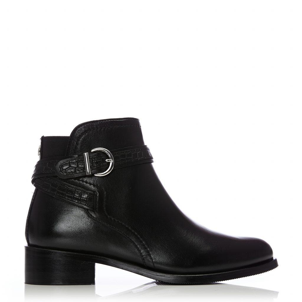 Lettia Black Leather Boots