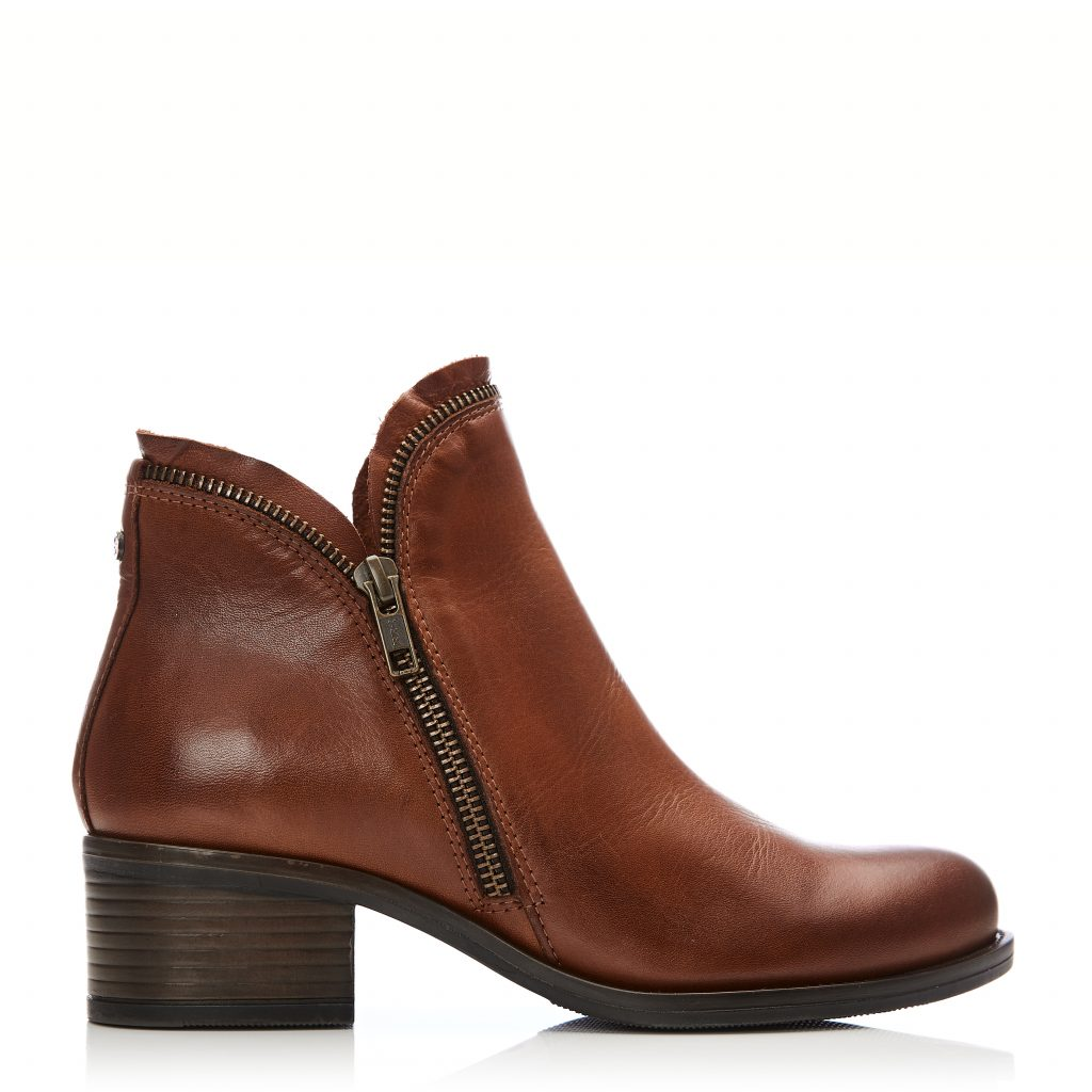 Prue Tan Leather Boots